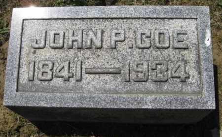 COE, JOHN P. - Athens County, Ohio   JOHN P. COE - Ohio Gravestone Photos