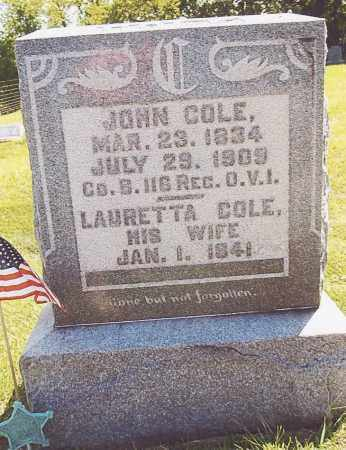 COLE, LAURETTA (ETTA) (LORETTA) - Athens County, Ohio | LAURETTA (ETTA) (LORETTA) COLE - Ohio Gravestone Photos