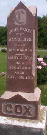 COX, JOHN D. - Athens County, Ohio | JOHN D. COX - Ohio Gravestone Photos