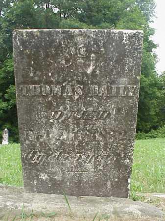 DAILY, THOMAS - Athens County, Ohio | THOMAS DAILY - Ohio Gravestone Photos