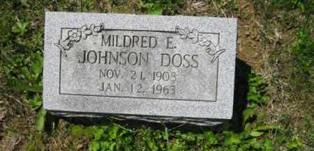 JOHNSON DOSS, MILDRED E. - Athens County, Ohio | MILDRED E. JOHNSON DOSS - Ohio Gravestone Photos