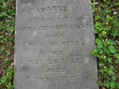 GIBSON, ISABEL - Athens County, Ohio | ISABEL GIBSON - Ohio Gravestone Photos