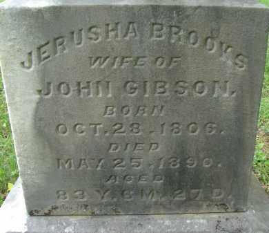 BROOKS GIBSON, JERUSHA - Athens County, Ohio | JERUSHA BROOKS GIBSON - Ohio Gravestone Photos