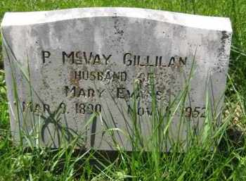 GILLILAN, P. MCVAY - Athens County, Ohio | P. MCVAY GILLILAN - Ohio Gravestone Photos