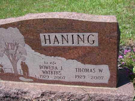 HANING, ROWENA J - Athens County, Ohio | ROWENA J HANING - Ohio Gravestone Photos