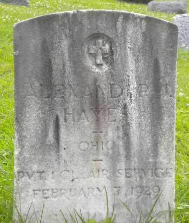 HAYES, ALEXANDER - Athens County, Ohio | ALEXANDER HAYES - Ohio Gravestone Photos