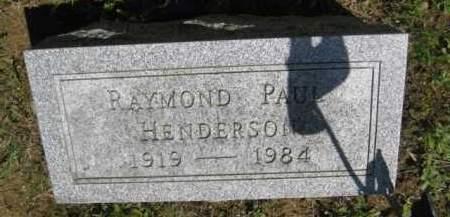 HENDERSON, RAYMOND PAUL - Athens County, Ohio | RAYMOND PAUL HENDERSON - Ohio Gravestone Photos