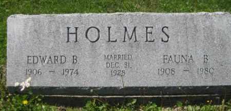 HOLMES, EDWARD B. - Athens County, Ohio | EDWARD B. HOLMES - Ohio Gravestone Photos