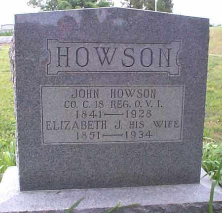 HOWSON, ELIZABETH J. - Athens County, Ohio | ELIZABETH J. HOWSON - Ohio Gravestone Photos
