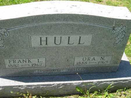 HULL, ORA N. - Athens County, Ohio | ORA N. HULL - Ohio Gravestone Photos