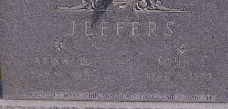 JEFFERS, ANNA B. - CLOSEVIEW - Athens County, Ohio | ANNA B. - CLOSEVIEW JEFFERS - Ohio Gravestone Photos