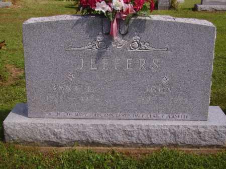 DOUGLAS JEFFERS, ANNA B. - OVERALL VIEW - Athens County, Ohio | ANNA B. - OVERALL VIEW DOUGLAS JEFFERS - Ohio Gravestone Photos
