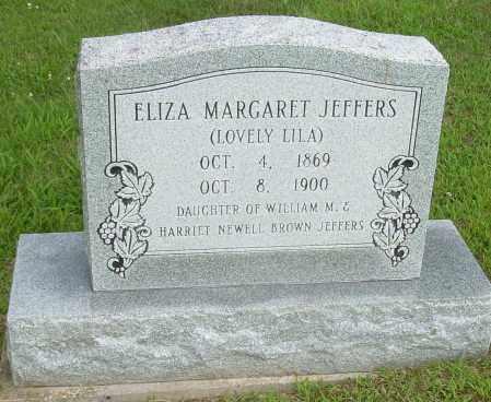 JEFFERS, ELIZABETH MARGARET - Athens County, Ohio   ELIZABETH MARGARET JEFFERS - Ohio Gravestone Photos