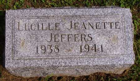 JEFFERS, LUCILLE JEANETTE - Athens County, Ohio | LUCILLE JEANETTE JEFFERS - Ohio Gravestone Photos