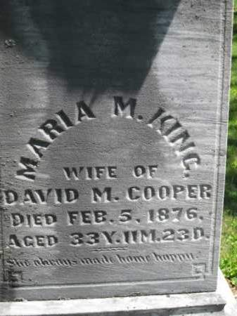 KING, MARIA M. - Athens County, Ohio | MARIA M. KING - Ohio Gravestone Photos