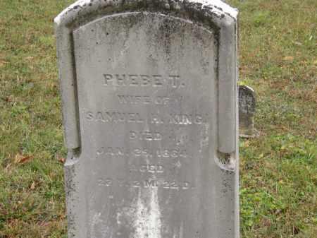KING, PHEBE T. - Athens County, Ohio | PHEBE T. KING - Ohio Gravestone Photos