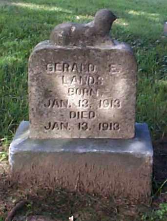 LANDS, GERALD E. - Athens County, Ohio | GERALD E. LANDS - Ohio Gravestone Photos