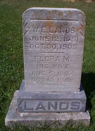 LANDS, W.E. - Athens County, Ohio | W.E. LANDS - Ohio Gravestone Photos