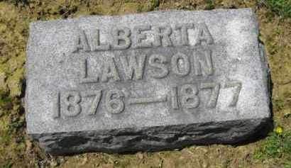 LAWSON, ALBERTA - Athens County, Ohio | ALBERTA LAWSON - Ohio Gravestone Photos