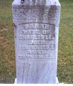 LEE, SARAH - Athens County, Ohio | SARAH LEE - Ohio Gravestone Photos
