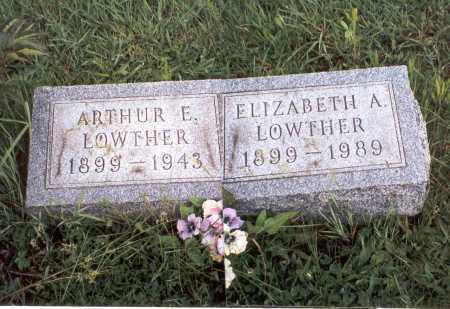 MORRIS LOWTHER, ELIZABETH A. - Athens County, Ohio | ELIZABETH A. MORRIS LOWTHER - Ohio Gravestone Photos