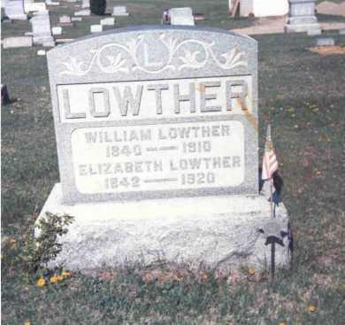 LOWTHER, ELIZABETH - Athens County, Ohio | ELIZABETH LOWTHER - Ohio Gravestone Photos