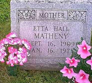MATHENY, ETTA HALL - Athens County, Ohio   ETTA HALL MATHENY - Ohio Gravestone Photos