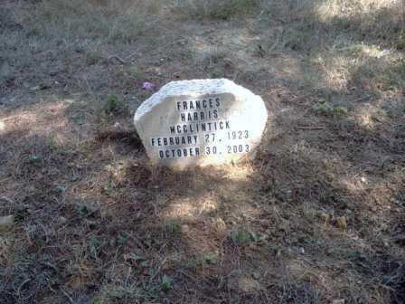 HARRIS MCCLINTICK, FRANCES - Athens County, Ohio | FRANCES HARRIS MCCLINTICK - Ohio Gravestone Photos