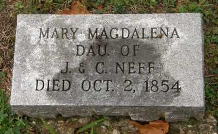 NEFF, MARY MAGDALENA - Athens County, Ohio | MARY MAGDALENA NEFF - Ohio Gravestone Photos