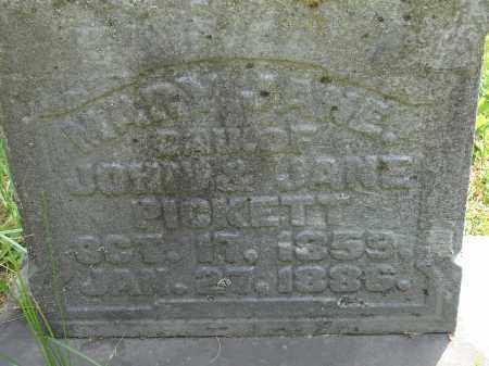PICKETT, MARY JANE - Athens County, Ohio   MARY JANE PICKETT - Ohio Gravestone Photos