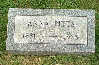 HITCHINGS PITTS, ANNA - Athens County, Ohio | ANNA HITCHINGS PITTS - Ohio Gravestone Photos
