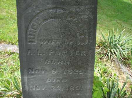 PORTER, RHODA - Athens County, Ohio | RHODA PORTER - Ohio Gravestone Photos