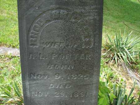 BRICKLES PORTER, RHODA - Athens County, Ohio   RHODA BRICKLES PORTER - Ohio Gravestone Photos