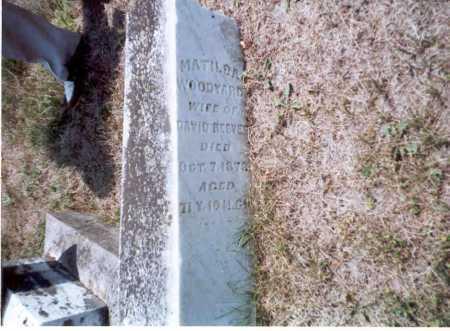 WOODYARD REEVES, MATILDA - Athens County, Ohio | MATILDA WOODYARD REEVES - Ohio Gravestone Photos