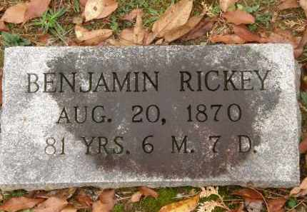 RICKEY, BENJAMIN - Athens County, Ohio | BENJAMIN RICKEY - Ohio Gravestone Photos