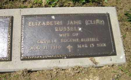 RUSSELL, ELIZABETH JANE - Athens County, Ohio | ELIZABETH JANE RUSSELL - Ohio Gravestone Photos