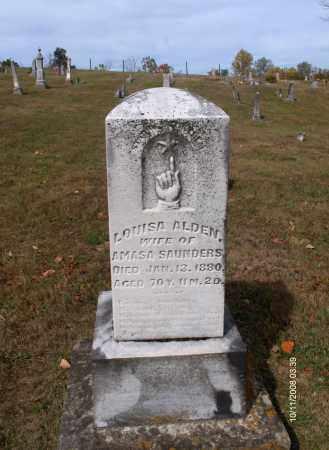 ALDEN SAUNDERS, LOUISA - Athens County, Ohio | LOUISA ALDEN SAUNDERS - Ohio Gravestone Photos