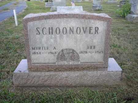 SCHOONOVER, MYRTLE A. - Athens County, Ohio | MYRTLE A. SCHOONOVER - Ohio Gravestone Photos