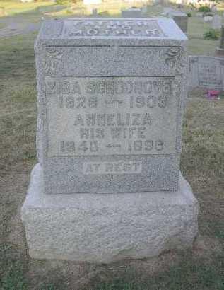 SCHOONOVER, ZIBA - Athens County, Ohio   ZIBA SCHOONOVER - Ohio Gravestone Photos