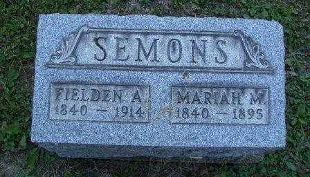 SEMONS, FIELDEN ARTHUR - Athens County, Ohio | FIELDEN ARTHUR SEMONS - Ohio Gravestone Photos