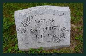 SMITH SHUMWAY, ALICE - Athens County, Ohio   ALICE SMITH SHUMWAY - Ohio Gravestone Photos