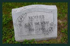 SMITH SHUMWAY, ALICE - Athens County, Ohio | ALICE SMITH SHUMWAY - Ohio Gravestone Photos