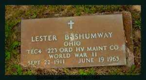 SHUMWAY, LESTER BURTON - Athens County, Ohio   LESTER BURTON SHUMWAY - Ohio Gravestone Photos