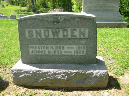 SNOWDEN, PRESTON M. - Athens County, Ohio | PRESTON M. SNOWDEN - Ohio Gravestone Photos