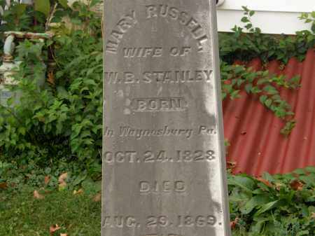 RUSSELL STANLEY, MARY - Athens County, Ohio | MARY RUSSELL STANLEY - Ohio Gravestone Photos