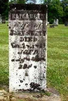 YATES SWETT, ELIZABETH WALES - Athens County, Ohio   ELIZABETH WALES YATES SWETT - Ohio Gravestone Photos
