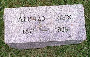 SYX, ALONZO - Athens County, Ohio | ALONZO SYX - Ohio Gravestone Photos