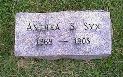 SYX, ANTHEA S. - Athens County, Ohio | ANTHEA S. SYX - Ohio Gravestone Photos