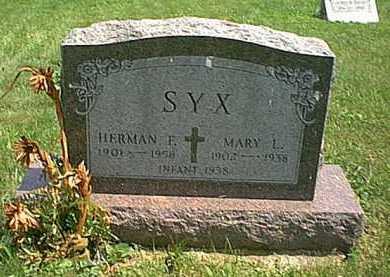 SYX, INFANT - Athens County, Ohio | INFANT SYX - Ohio Gravestone Photos