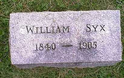 SYX, WILLIAM - Athens County, Ohio | WILLIAM SYX - Ohio Gravestone Photos